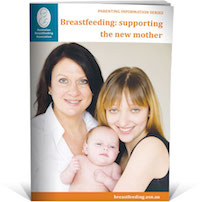 supporting a new mother breastfeeding