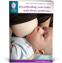 breastfeeding a baby with downs syndrome