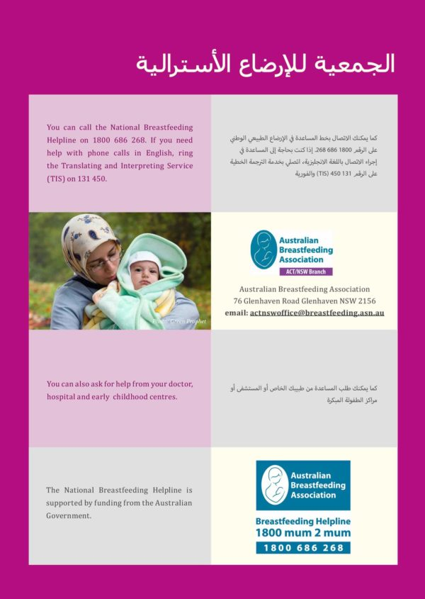 How breastfeeding works - Arabic